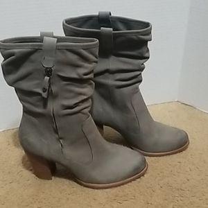 UGG Distressed Heeled Boots